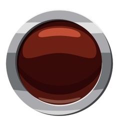 Round button click icon cartoon style vector