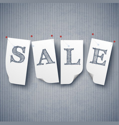 sale and special offers paper labels set vector image vector image
