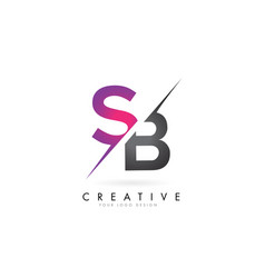 Sb s b letter logo with color block design vector