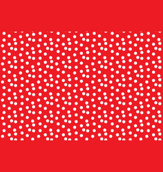 scattered dots red polka background seamless vector image