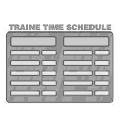 Schedule time of trains icon monochrome style vector