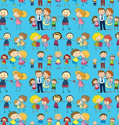 Seamless design of a family vector image