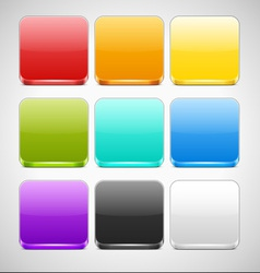 Set of Colorful App Icons Backgrounds vector image