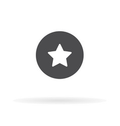 star icon for web business finance and vector image