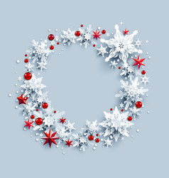 stars and snow wreath vector image