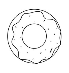 sweet donut icon image vector image