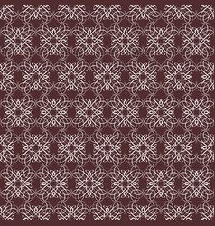 symmetrical seamless pattern with calligraphic vector image