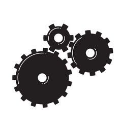 three gears vector image