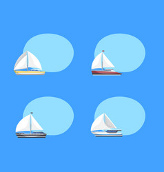 travel sailboats labels with space for text vector image
