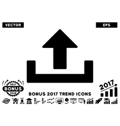 Upload Flat Icon With 2017 Bonus Trend vector