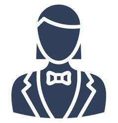 Waitress icon which can easily modify or e vector