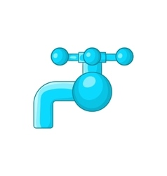 Water tap with knob icon cartoon style vector image