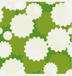 white flowers seamless vector image