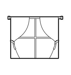 Window curtains for house interior decoration vector