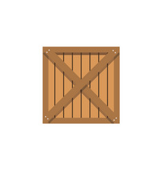 Wooden box cargo shipping merchandise vector
