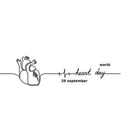 world heart day for banner design medical concept vector image