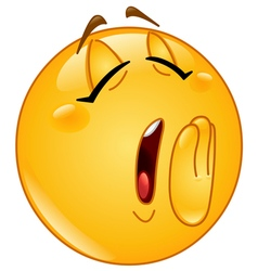 yawn female emoticon vector image