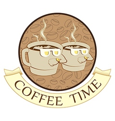 Coffee time coffee break vector image