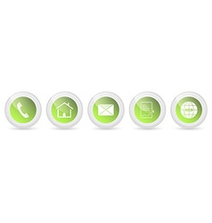 Contact us buttons - set vector image vector image