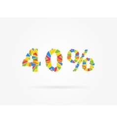 Discount 40 percent colorful vector image