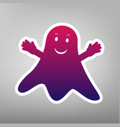 ghost sign purple gradient icon on white vector image