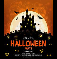 halloween poster design vector image vector image