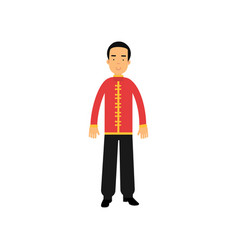 male character in traditional chinese clothes vector image