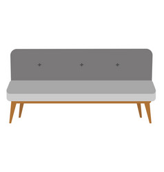 modern gray settee cartoon vector image