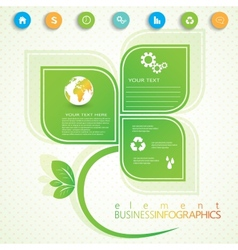 Modern infographic network template with place for vector image vector image