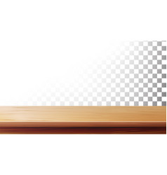 wooden table top isolated on transparent vector image