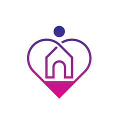 home care logo design vector image