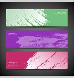 paint brush background set vector image vector image