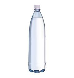 plastic water bottle vector image vector image