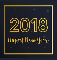 2018 happy new year greeting card with vector image