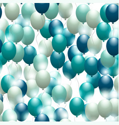 balloons seamless festive pattern background for vector image