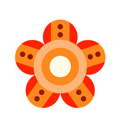 decorative color flat icon of a flower on a white vector image vector image