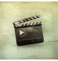 Film maker old-style vector image