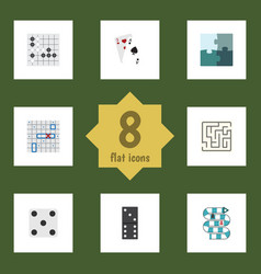 flat icon play set of gomoku labyrinth ace and vector image