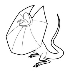 frill necked lizard icon outline style vector image