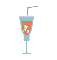 mojito cocktail fresh drink vector image