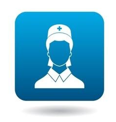 Nurse icon in simple style vector image