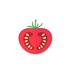 tomato flat icon food drink elements vector image vector image
