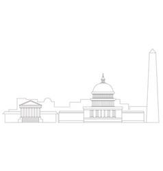 washington cityscape outline vector image