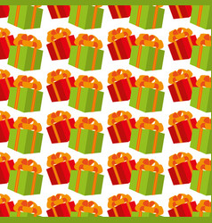 color background pattern with gift boxes vector image