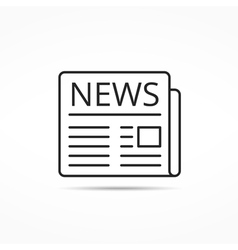 News Line Icon vector image vector image