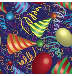 party seamless pattern vector image vector image