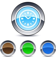 time round button vector image