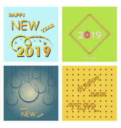 2019 happy new year and marry christmas vector