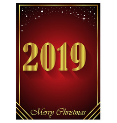 2019 merry christmas background vector image
