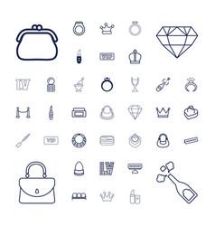 37 luxury icons vector
